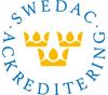 Swedac ackreditering logotyp.